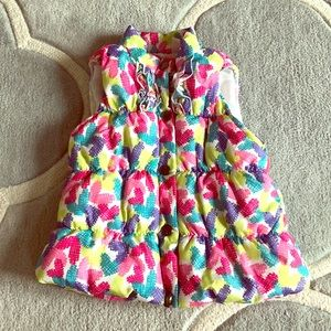 Colorful Little Girls Puffer Vest